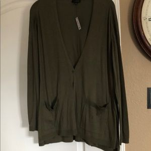 Olive green Limited v neck button down cardigan